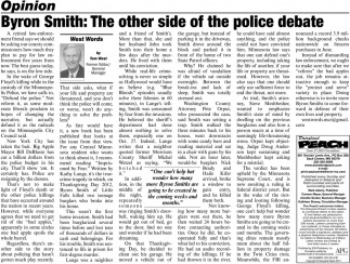 Byron Smith: The Other Side of the Police Debate