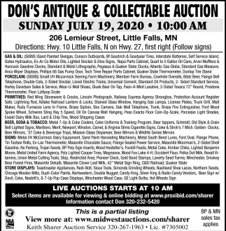 Don's Antique & Collectable Auction