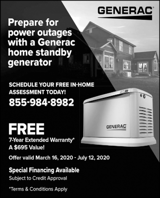 Prepare for Power Outages with a Generac Home Standby Generator