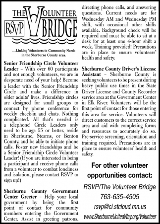 Senior Friendship Circle Volunteer Leader