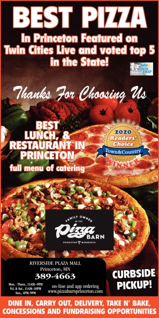 Thanks for Choosing Us Best Lunch, & Restaurant in Princeton
