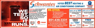 Voted Best Heating & Air Conditioning Company!