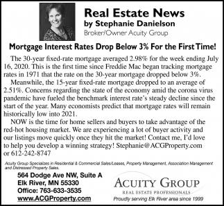 Mortgage Interest Rates Drop Below 3% for the First Time!