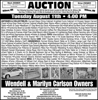 Auction Tuesday August 11th