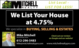 We List Your Home at 4.75%