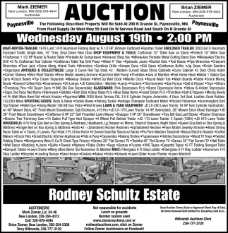 Auction Wednesday August 19th