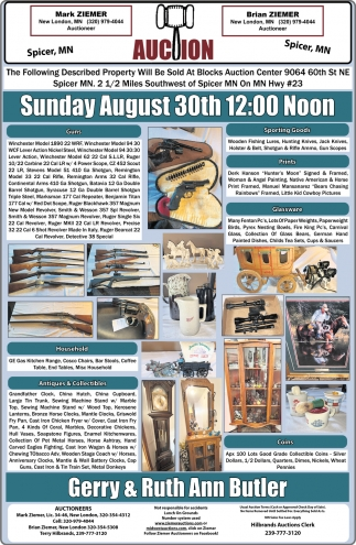 Auction Sunday August 30th