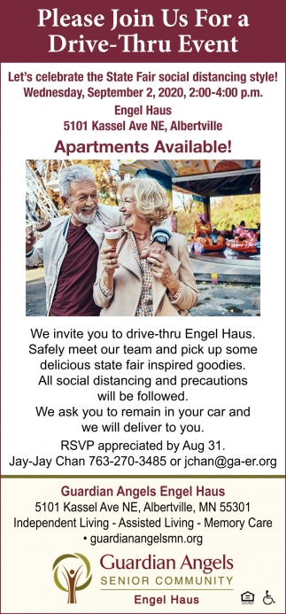 Please Join Us for a Drive-Thru Event