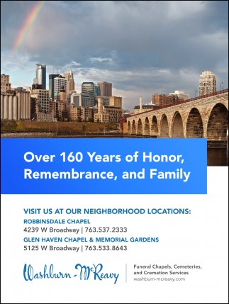 Over 160 Years of Honor, Remembrance and Family