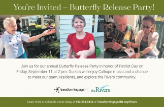 You're Invited - Butterfly Release Party!