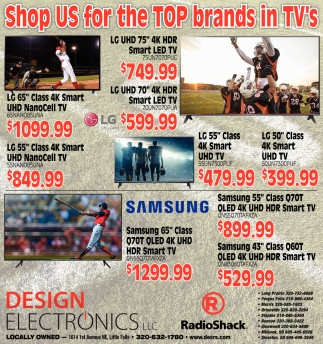 Shop Us for the Top Brands in TV's