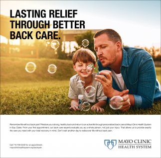Lasting Relief Mayo Clinic Health System
