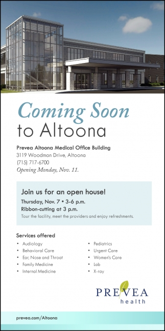 Coming Soon To Altoona Prevea Health Mondovi Wi