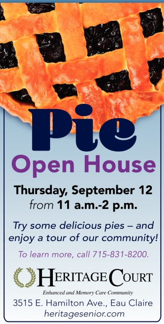 Pie Open House