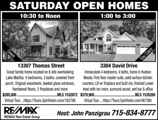 Saturday Open Homes