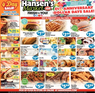 51st Anniversary Dollar Days Sale