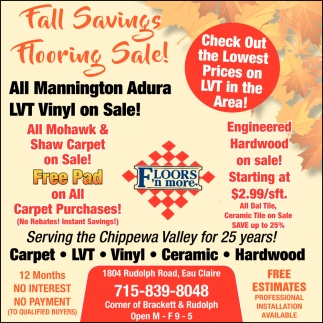 Fall Saving Flooring Sale