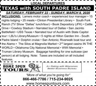 Texas with South Padre Island