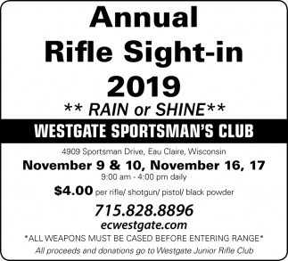 Annual Rifle Sight-In 2019