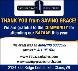 Thank You from Saving Grace