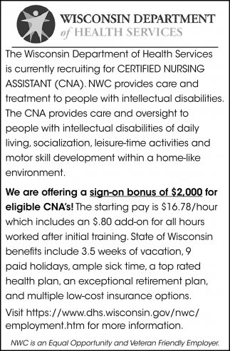 Certified Nursing Assistant