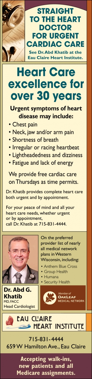 Heart Care Excellence for Over 30 Years
