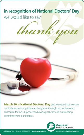 Recognition of National Doctors' Day