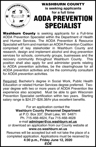 AODA Prevention Specialist