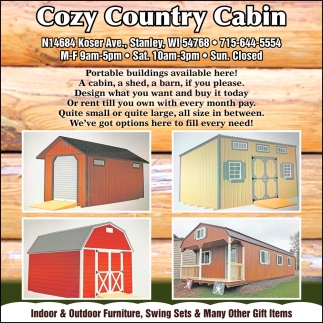 Portable Buildings Available