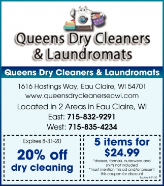 20% OFF Dry Cleaning