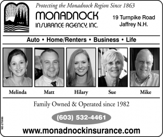 Protectiong The Monadnock Region Since 1863