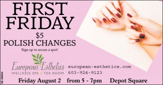 First Friday $5 Polish Changes