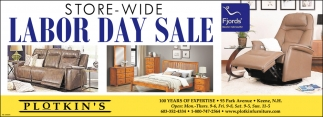 Store-Wide Labor Day Sale