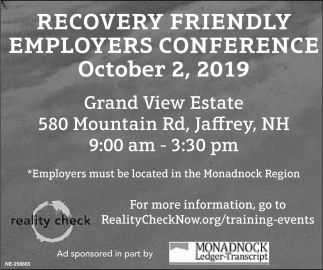 Recovery Friendly Employers Conference