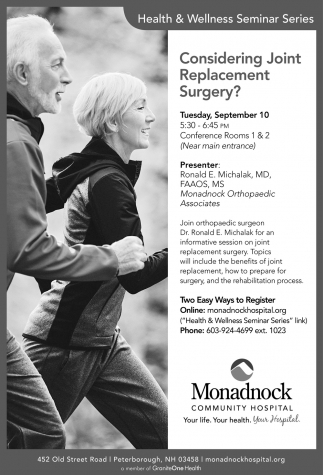 Considering Joint Replacement Surgery?