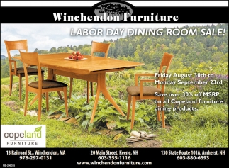 Labor Day Dining Room Sale!