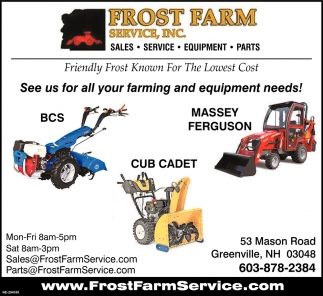 See Us For All Your Farming And Equipment Needs