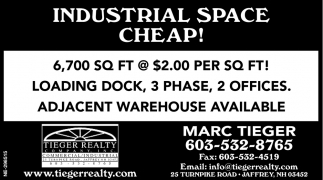 Industrial Space Cheap!