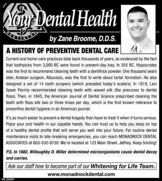 A History Of Preventive Dental Care