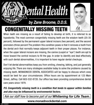 Congenitally Missing Teeth