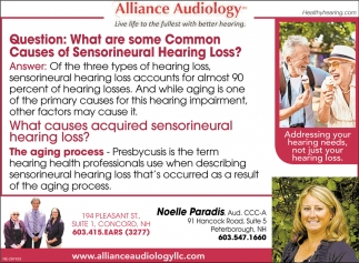 What Are Some Common Causes Of Senorineural Hearing Loss?