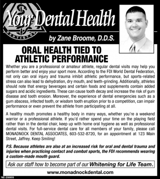 Oral Health Tied To Athletic Performance