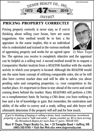 Pricing Property Correctly