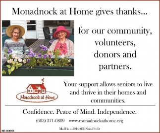 Your Support Allows Seniors To Live And Thrive