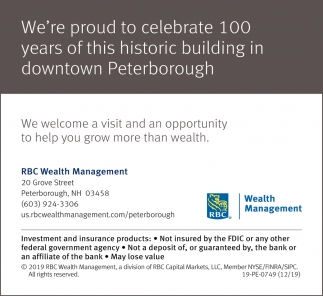 We're Proud To Celebrate 100 Years