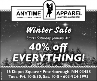 40% Off Everything!