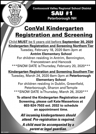 Registration And Screening