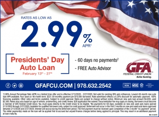 Presidents' Day Auto Loan