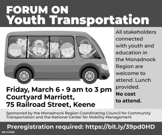 Forum On Youth Transportation