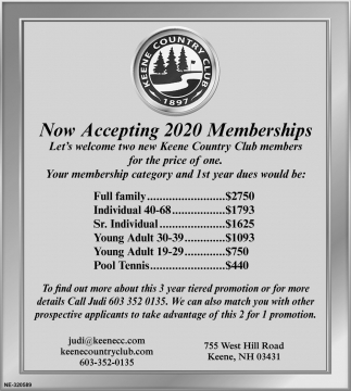 Now Accepting 2020 Memberships